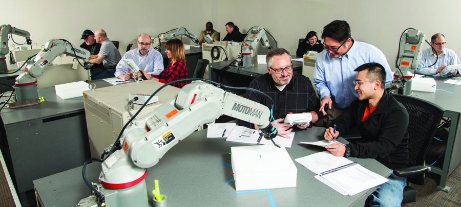 Certified robot training, offered by the robot manufacturer, can help speed up the process of developing programming skills.